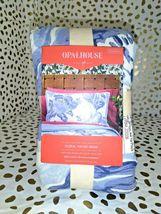 Floral Print Tufted Pillow Sham Blue - Opalhouse Standard 1 Sham  STORE NEW! image 3