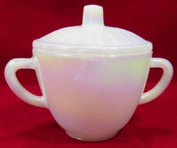 Rare Moonglow Sugar Bowl Lid Federal Glass USA Oven Proof Vintage 70's - $20.30