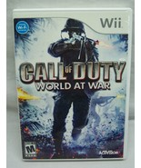 CALL OF DUTY World at War NINTENDO WII Video Game Complete w/ Manual 2008 - $14.85