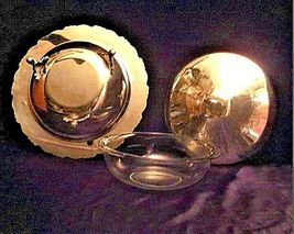 Vintage Elegant Oneida Stainless Steel Serving ware with design lid USAAA19-1413 image 5