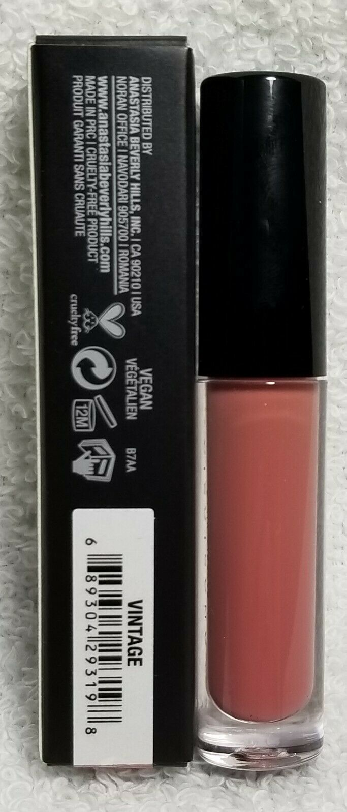 Anastasia VINTAGE Lip Gloss Opaque High Shine Vanilla Scented Lip .07 oz/2g New
