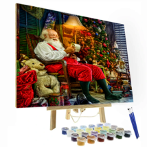 Santa Reading Gift List Paint by Number Kit - $13.99