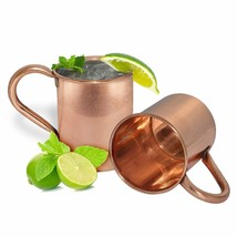 COPPER MUG 16 OZ COFFEE CUP TEA JUICE WINE VODKA Plain MUG SET OF 2 - $20.56