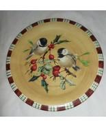 Chickadee Lenox Winter Greetings Everyday Salad Plate New Birds Catherin... - $14.99