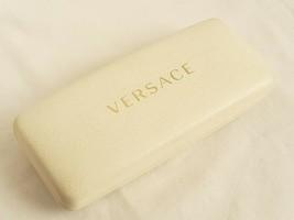 Versace Sunglasses Case Only Off White Clamshell Hardcase Eyewear Eyeglass - $5.84