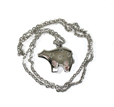 TRIFARI Spirit Bear Necklace, Large Pendant, Silver Tone, Long Chain, So... - $26.00