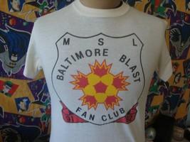 Vintage 90's Baltimore Blast MSL Soccer T Shirt M  - $29.69