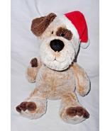2015 Animal Adventure Puppy Dog Christmas Hat Brown Frosted White Eye Sp... - $17.79
