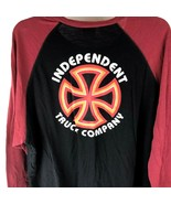 Independent Truck Company RINGER Shirt 3/4 Sleeve skate Tee L Thin soft ... - $17.81