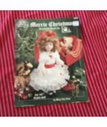 """Merrie Christmas 14"""" Doll Dress Crochet Pattern - $4.19"""