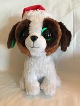 "RETIRED TY BEANIE BOOS 2012 CHRISTMAS PRESENTS DOG SOLID EYE 10"" MEDIUM ... - $14.84"