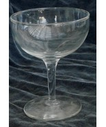 Nice Pressed Glass Footed Champagne Glass, VERY GOOD CONDITION, BEAUTIFU... - $6.92