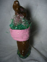 Handmade Chocolate Colored Easter Bunny by Christopher James in Paper Mache image 4
