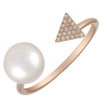 14KT Rose Gold Pearl Ring L25489 - $575.00