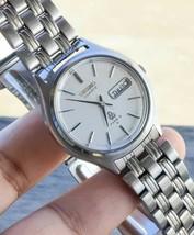 Vintage 1970 Sei ko Type II 7546 7010 White Dial Watch Original Bracelet... - $59.39