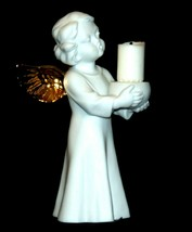 Singing Angel Holding a Candle AA19-1685 Vintage image 2