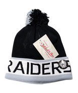 Mitchell and Ness NFL Oakland Raiders 2 Tone Cuffed Knit Pom Beanie Cap ... - $25.73