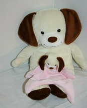 "Animal Adventure Puppy Dog 16"" Plush Stuffed Animal Pink Security Blanke... - $26.97"