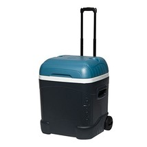 Igloo MaxCold 70 Qt Roller Cooler, Jet Carbon/Ice Blue/White - $59.08