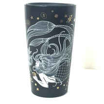 Starbucks 2019 Ceramic Travel Mug Brown White Mermaid Gold Trim 12 OZ NEW - $59.39