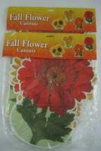 Beistle Flower Window Decor Die Cut Cardboard 2005 LARGE 2 pks Nos - $18.66