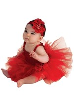 AdOrAbLe Baby Girl Red Ladybug Tutu Complete Costume 6-9M Rubies - $14.69