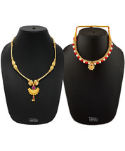 Womens Trendz Combo Pack of 2 Alloy 24K Gold Plated Alloy Necklace - $49.00