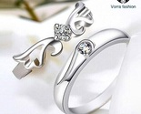 925 sterling silver ring opening korean couple thumb155 crop