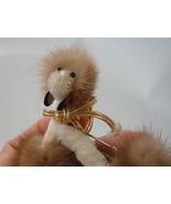 Vintage Dog Brooch Pin Velvet Chenille Genuine Mink Afghan Poodle BEST EVER - $24.74