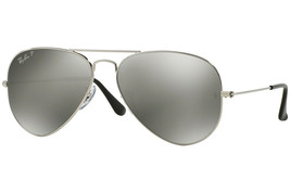 Ray Ban Sunglasses Aviator RB3025 003/59 58mm Silver w/Polarized silver Mirror - $220.45