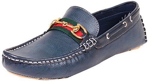 Primary image for Tag 7 Men's Leather Loafers 7 Blue