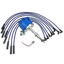 BIG BOCK FORD BBF 351C 351M 429 460 BLUE HEI Distributor + 8mm SPARK PLUG WIRES image 1