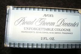 Vintage Avon Proud Groom Decanter Unforgettable Cologne 2 Fl.Oz - $14.84