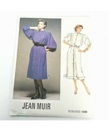 Vogue 1499 Jean Muir Dress Size 8 Bell Blouson Sleeve Vintage 1985 Uncut - $21.99