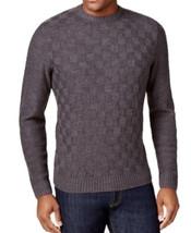 Geoffrey Beene Mens Sweater Chocolate Brown Basketweave Crewneck Knit Pu... - $24.99