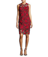 Calvin Klein Two-Tone Lace Sheath Dress, Rosewood, 2 - $89.09