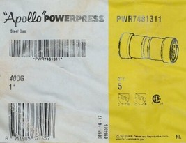 Apollo Powerpress Gas Carbon Steel Press Coupling with Stop PWR7481311 Bag of 5 image 2