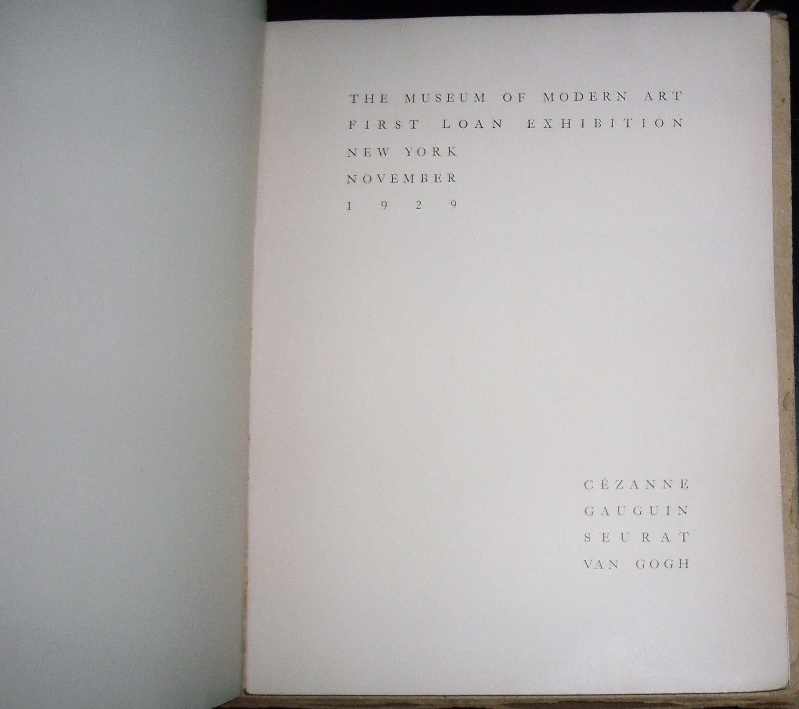 1929 Museum of Modern Art MOMA 1st Exhibition Catalog FREE SHIPPING