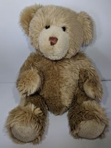 Brown Long hair Teddy Bear Build a Bear BABW Stuffed Animal Plush Soft 1... - $22.86