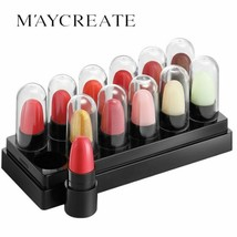 MAYCREATE Brand Jelly Lipstick Set Box 12 Branches Not Easy to Decolorization  - $5.95