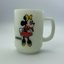 Minnie Mouse Disney Anchor Hocking Milk Glass Mug Pepsi Collector Series - $14.84