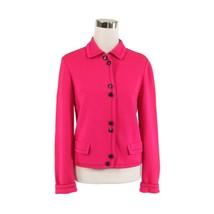 Bright pink 100% wool ANDIAMO vintage sweater jacket 7 S - $35.00