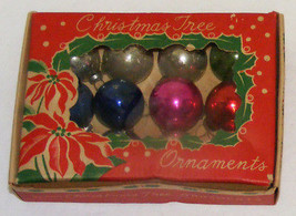 "Vintage 1"" Mini Glass Christmas Ornaments IOB #1a  - Japan - $12.99"