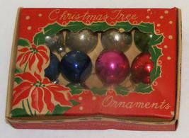 "Vintage 1"" Mini Glass Christmas Ornaments IOB #1a  - Japan - $12.99"