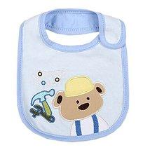 "Lovely Tool Bear Cotton/PVC Adjustable Waterproof Baby Bib Pocket Bib 612"""