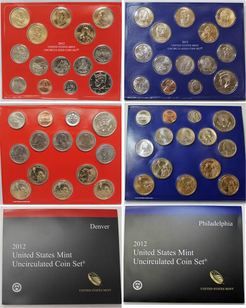 2012 P & D US Mint Set United States Original Government Packaging Box Cello