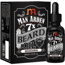 Man Arden 7X Beard Oil 30ml (Mandarin)- 100% natural & pure 7 super-ingr... - $16.36