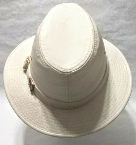 Dorfman Pacific Co. Men's Garment Washed Twill Safari Hat Beige Small, used