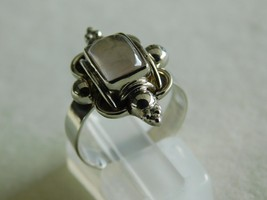 925 STERLING SILVER HAND MADE ROSE QUARTZ CABOCHON RING OF WT.-4.1 GMS. - $25.85