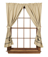 Olivia's Heartland country primitive Olde Crow Tan & Black Panel curtain... - $76.95